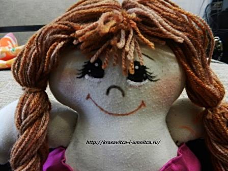 как нарисовать лицо текстильной кукле