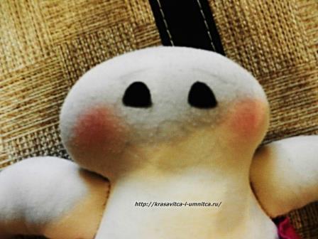 как рисовать лицо текстильной кукле
