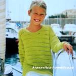 Детский пуловер лимонного цвета