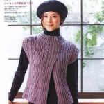 Вязаный жакет по японским журналам