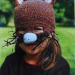 Детская шапка-маска крючком «Зайчик»
