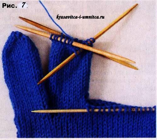 рисунок 7 как вязать перчатки