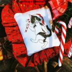 Вышивка подушки крестом
