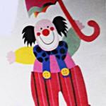 Аппликация клоун